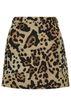 Topshop   Jacquard Animal Print Pelmet Skirt