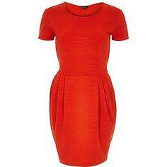 Red textured tulip dress - dresses - sale - women