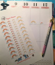 RAINBOW planner stickers  - Two sizes - so cute - Erin Condren MAMBI Happy Planner by PippasPlanner on Etsy