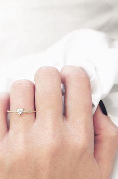http://rubies.work/0807-multi-gemstone-earrings/ Trillion Diamond Ring // Vrai & Oro