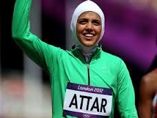 Sarah Attar, 19 years old, is the first female track athlete to compete for Saudi Arabia in the London Olympics 2012. Although she came last in the 800m race, she recieved a standing ovation as she crossed the finishing line.