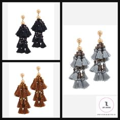 Designer Tassel Drop Earring #EARRINGS #MakeAnOffer #JEWELRY #NewArrivals #lifestyle #outfitoftheday #styleinspo #styleblogger #shopstyle #whatiwore Lady L, Tassel Drop Earrings, Beauty Boutique, Denim Jumpsuit, What I Wore, Outfit Of The Day, Wide Leg, Tassels, Lifestyle