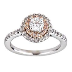 Certified 0.88 Carat F VS2 Round Brillant Halo Diamond Ring 14K W Gold *360 VIDEO & PROFESSIONAL IMAGES INSIDE