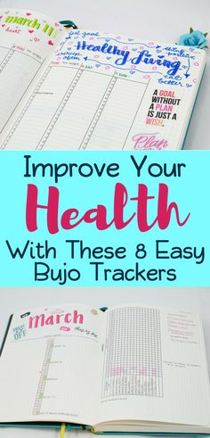 Bullet Journal Trackers- Learn how these 8 bullet journal trackers improve your health and well-being! Get tons of inspiration and ideas to make your bullet journal kick start your healthy living journey! Bullet Journal How To Start A, Bullet Journal Spread, Bullet Journal Layout, Bullet Journal Inspiration, Journal Ideas, Bullet Journals, Bujo, Filofax, Planner Stickers