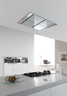 Miele hood for modern kitchens, Kitchen Layout, Kitchen Design, Kitchen Ideas, Kitchen Hoods, House Yard, Cuisines Design, Beautiful Kitchens, Home Kitchens, Modern Kitchens