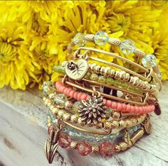 Alex and  ani.  This is kind of the style I want mine to look like. Now, to convince my hubby to get me some for our anniversary! ;)