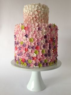 Bountiful blossoms.... The Artful Caker . This would be the perfect cake for a spring wedding!