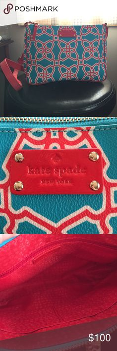 Midsize Kate Spade crossbody bag Red white and blue Kate Spade crossbody. kate spade Bags Crossbody Bags
