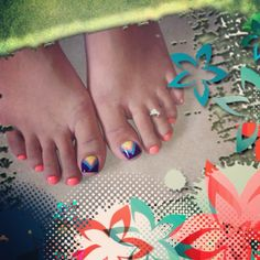 Ready for summer...toe nail design