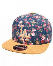Hats - Los Angeles Dodgers Off The Vine Strapback Hat (Faux Suede Visor)