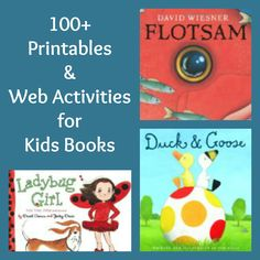 Love these!  More than 100 printables and activities all matched to favorite kids books!  Use the worksheets as writing incentives and the games & activities to encourage fun ways to explore the books kids love!