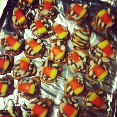 Fall Treats...had these before with a m instead of candy corn