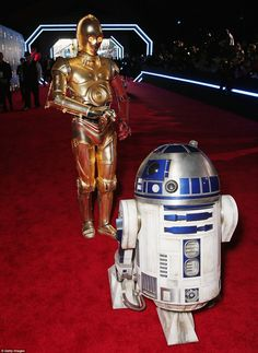 These are not the droids you are looking for! R2-D2 led C-3PO down the arrivals carpet...