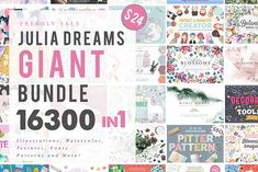 16300 in 1 - GRAPHIC GIANT BUNDLE by Julia Dreams on @creativemarket