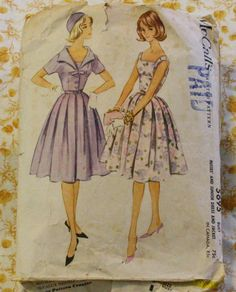 McCall 5695 1950s Jacket & Full Dress Sewing by EleanorMeriwether, $14.00