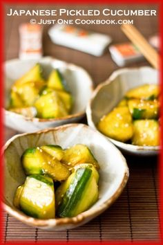 Japanese Pickled Cucumber (cucumber, soy sauce, sesame oil, chili oil, sugar, sesame seeds)