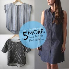 SweetKM: 5 More: Tried and True Shirt Patterns