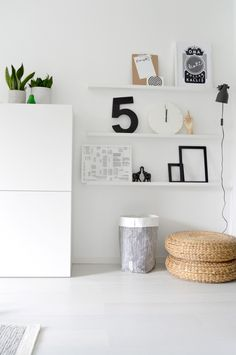pisaroita: Kun sisustuttaa - IKEA recycle wall bins and small wall shelves