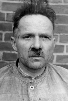 Rudolf Höss, commandant of Auschwitz, after he was treated to some of the medicine the SS delivered to their millions of victims. Rudolf Höss was hanged very near one of his gas chambers after his conviction by a Polish war crimes tribunal.
