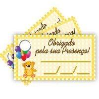 Tags COM Furo Infantil Amarelo - 15 unidades