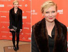 Love the braid!  Kirsten Dunst at Bachelorette premiere in Roland Mouret