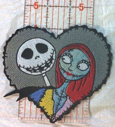 Jack & Sally in Barbed Heart  Nightmare by FlamingoEmbroidery