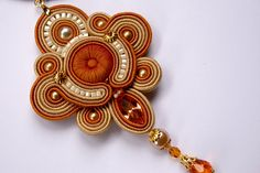 Soutache pendant by BeadsRainbow on Etsy, $99.00