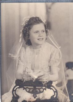 First Communion Girl Vintage Photograph