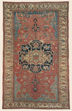 "SERAPI, Northwest Persian Antique 9' 3"" x 15' 0"" — 3rd Quarter, 19th Century Rug - Claremont Rug Company Click to learn more about this rug."