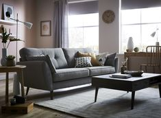 Scandi-Style has had a reboot for 2017 - enter soft pastel walls and richly Home Decor Inspiration, Room, Living Room Sofa, Cool Rooms, Sofa, Rooms Home Decor, Neutral Color Sofa, Monochrome Living Room, Home Decor