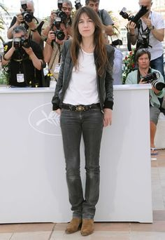 Charlotte Gainsbourg's casual look