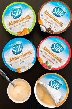 I love this yogurt. Silks vanilla soy yogurt is decadent. There's also a silk chocolate and coconut that's amazing. Paleo Dairy, Dairy Free Diet, Lactose Free, Dairy Free Recipes, Gluten Free, Vegan Recipes, Silk Almond Milk, Almond Milk Yogurt, Vegan Yogurt