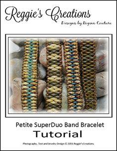 Tutorial  Petite SuperDuo Band Bracelet by di ReggiesCreations