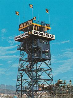 The Goodyear Tower. Riverside Raceway's most famous landmark.