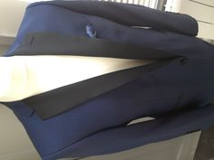Electric blue, bespoke dinner suit for wedding www.alexandrawoodbespoke.co.uk