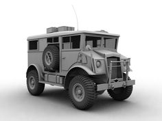 Wwii Military Transport Truck 3D Max - 3D Model