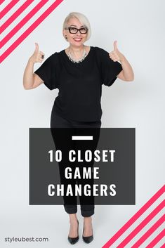 """Are you looking for timeless, versatile wardrobe lifesavers ? Want to create modern yet straightforward looks that flatter your body shape and lifestyle, regardless of age?   The """"10 Closet Game Changers"""" style guide is perfect for you if you struggle to find comfortable, modern clothes that work for 99% of occasions, flatter your body and can be easily found in many stores.   Download your FREE copy and start building your wardrobe foundation!"""