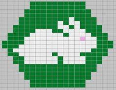 white rabbit plus other free hexipuff charts! Crochet Stitches Patterns, Quilt Patterns Free, Crochet Chart, Beading Patterns, Knitting Patterns, Knitting Ideas, Knitting Charts, Loom Knitting, Baby Knitting