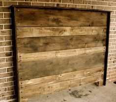 Upcycled Barn Wood Headboard via Etsy.
