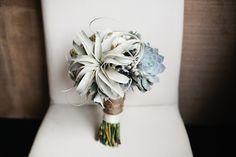 Succulent bridal bouquet | photo by Megan Welker | 100 Layer Cake