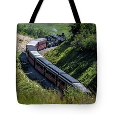 Cumbres And Toltec Scenic Railroad In The Mountains Tote Bag featuring the photograph Cumbres And Toltec Scenic Railroad In The Mountains by Debra Martz