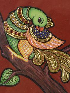 Saree Painting, Kalamkari Painting, Kerala Mural Painting, Peacock Painting, Madhubani Painting, Indian Art Paintings, Fabric Painting, Canvas Paintings, Ganesha Painting