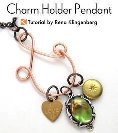 Charm Holder Pendant Tutorial | Charm Holder DIY | Charm Holder Necklace DIY | Charm Holder Pendant DIY
