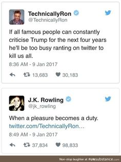 j.k Rowling is a savage