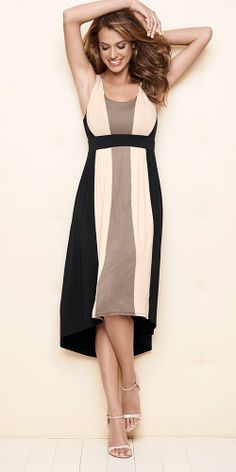 Soma Colorblock Midi Dress in Colorblock Neutral - Soma Sweepstakes/ perfect  for work! Love it!
