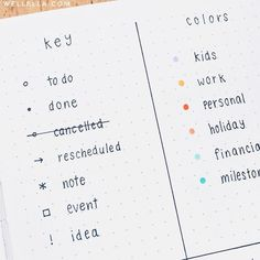 Bullet Journal Key Ideas & Examples Examples of bullet journaling symbols to create the perfect bujo key. Bullet journal symbols, key page ideas, and color coding ideas to try! The latest bullet journal ideas.