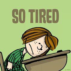 So tired peanuts