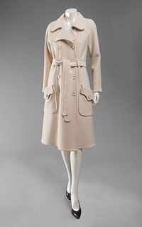 Woman's Coat 1970, French, Made of wool