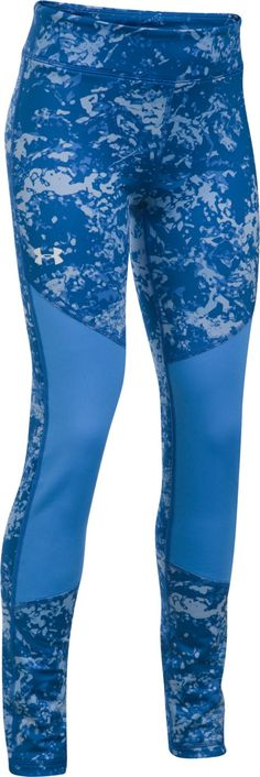 Under Armour Girls' Novelty ColdGear Leggings, Size: Medium, Blue
