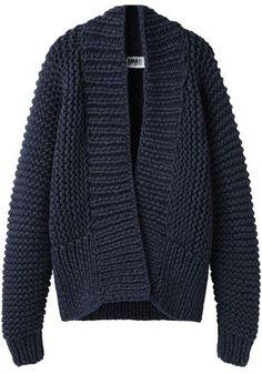 Chunky Hand-Knit Cardigan